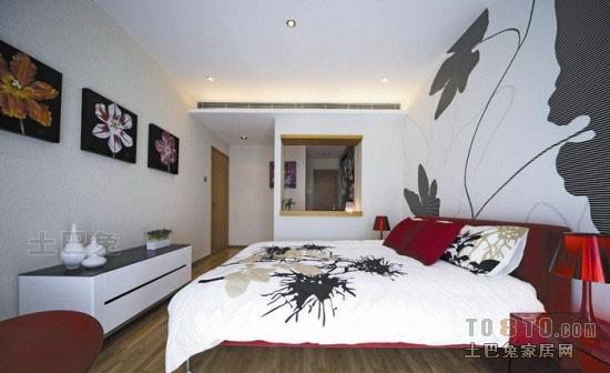 优美50平混搭二居卧室效果图卧室潮流混搭卧室设计图片赏析