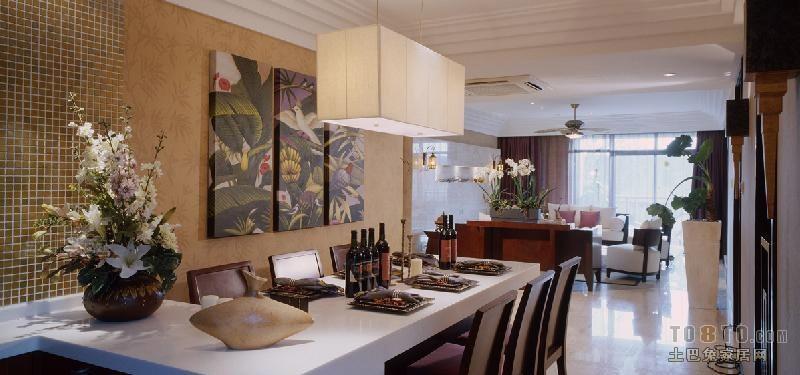 平方三居餐厅混搭效果图厨房潮流混搭餐厅设计图片赏析