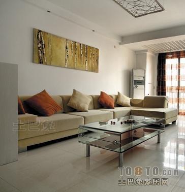 74平混搭二居装修效果图片大全客厅潮流混搭客厅设计图片赏析