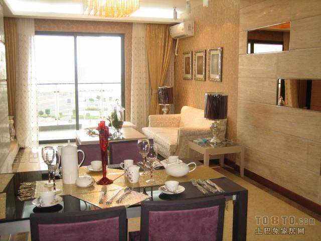 质朴107平混搭三居餐厅装修图厨房潮流混搭餐厅设计图片赏析