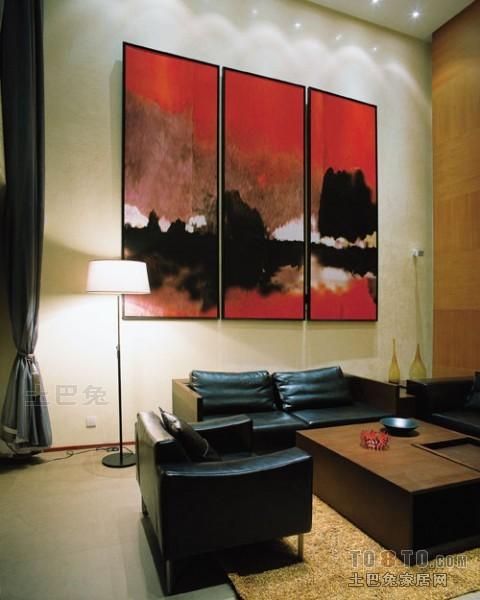 2018面积119平复式客厅混搭装修效果图片客厅潮流混搭客厅设计图片赏析