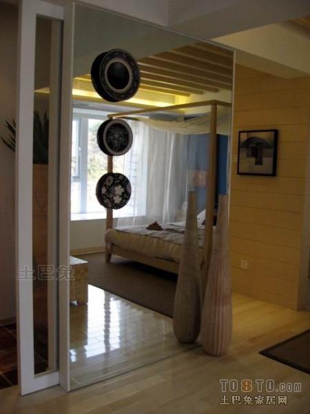 典雅103平混搭三居卧室案例图卧室潮流混搭卧室设计图片赏析