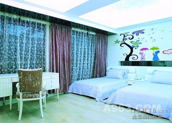 精选四居儿童房混搭装修实景图卧室潮流混搭卧室设计图片赏析
