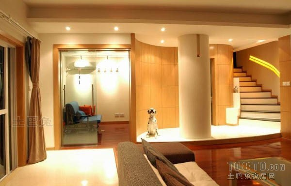 精致68平混搭复式客厅设计美图客厅潮流混搭客厅设计图片赏析