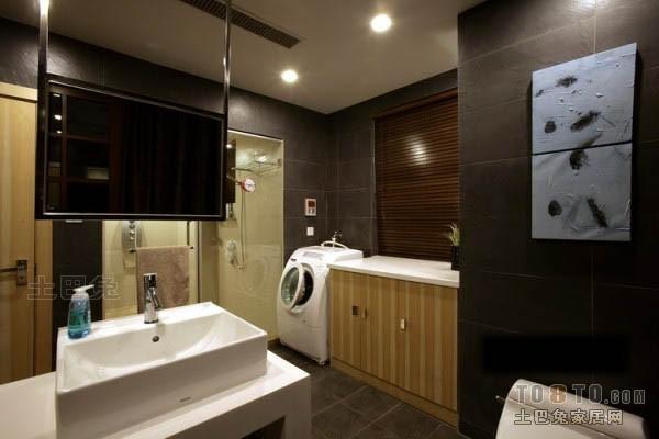 热门复式卫生间混搭装饰图片欣赏卫生间潮流混搭卫生间设计图片赏析