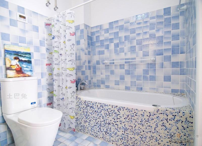 精美101平米三居卫生间混搭实景图设计图片赏析