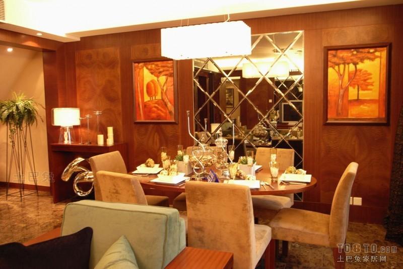 平混搭复式餐厅装修图厨房潮流混搭餐厅设计图片赏析