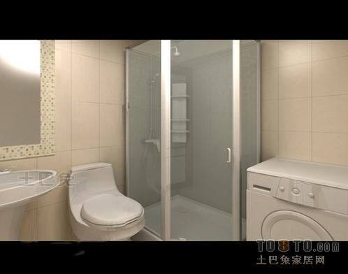 明亮89平混搭二居卫生间实景图卫生间潮流混搭卫生间设计图片赏析