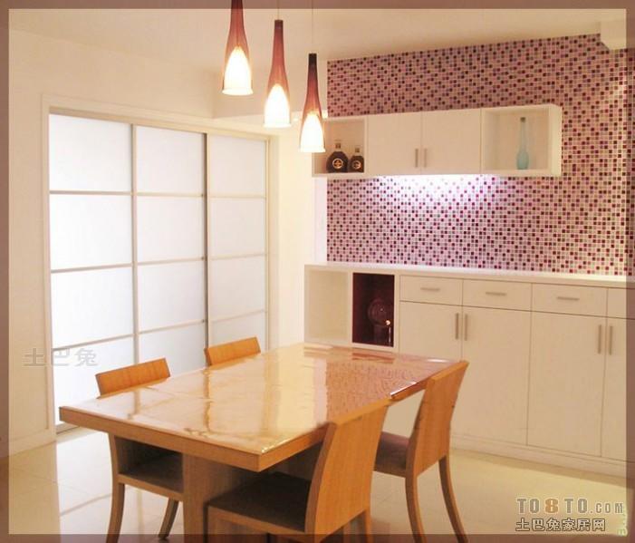 热门面积113平混搭四居餐厅装饰图片大全厨房潮流混搭餐厅设计图片赏析