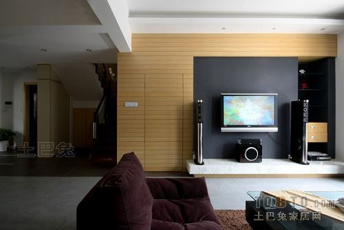 温馨73平混搭复式客厅装修设计图客厅潮流混搭客厅设计图片赏析