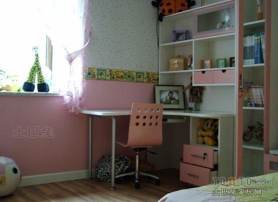 悠雅81平混搭二居儿童房装修案例卧室潮流混搭卧室设计图片赏析