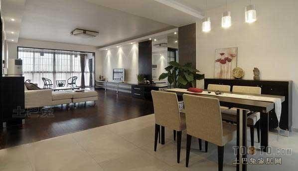 面积137平混搭四居餐厅装饰图厨房潮流混搭餐厅设计图片赏析