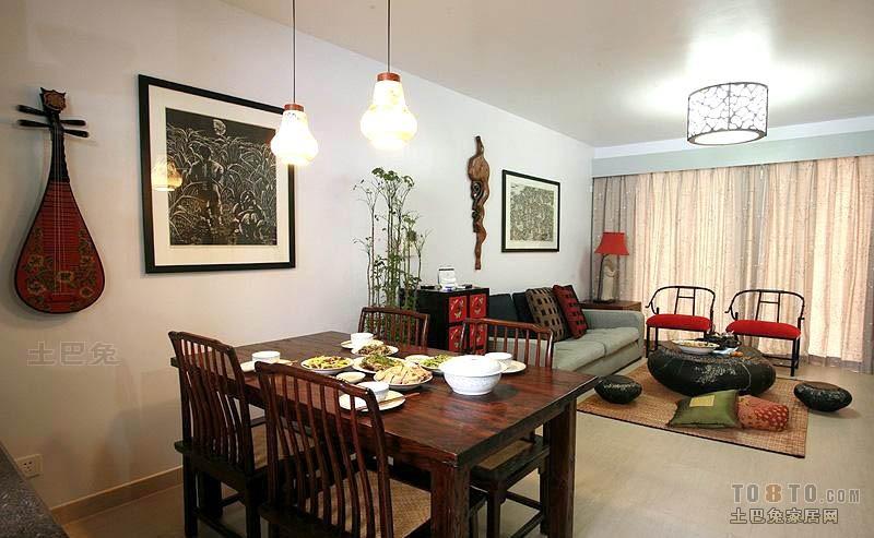 精美109平大小混搭三居效果图片欣赏客厅潮流混搭客厅设计图片赏析