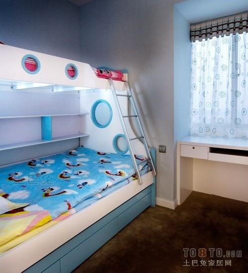 儿童子母床装修图卧室潮流混搭卧室设计图片赏析