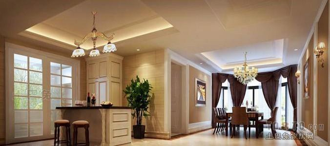 精美67平混搭复式餐厅美图厨房潮流混搭餐厅设计图片赏析