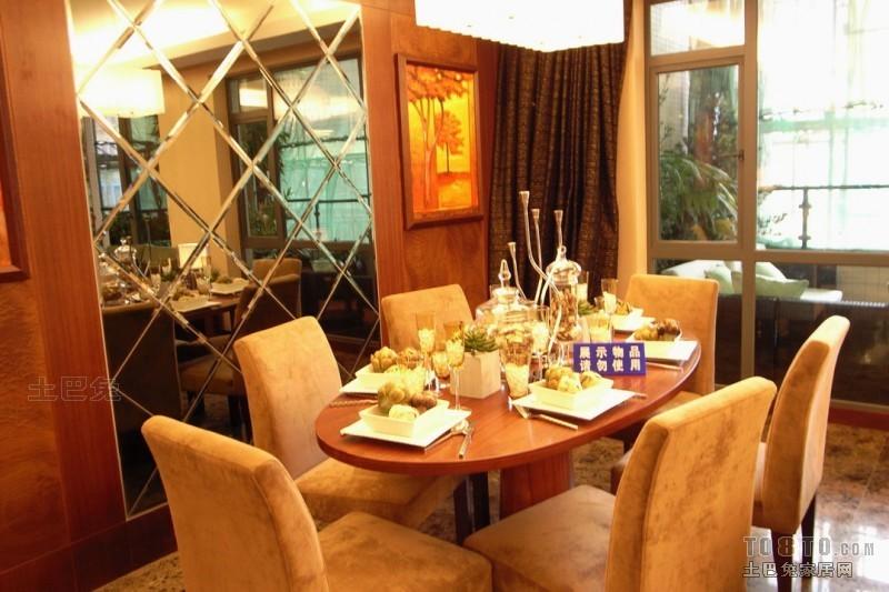 大气71平混搭复式餐厅设计效果图厨房潮流混搭餐厅设计图片赏析