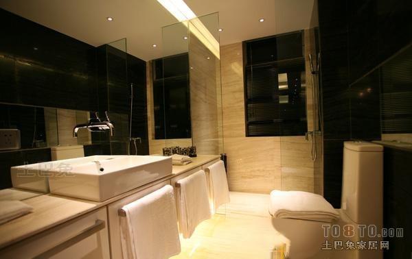 精致43平混搭复式卫生间设计案例卫生间潮流混搭卫生间设计图片赏析