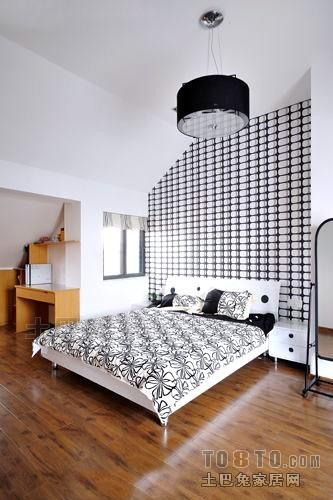 悠雅41平混搭复式卧室实景图片卧室潮流混搭卧室设计图片赏析