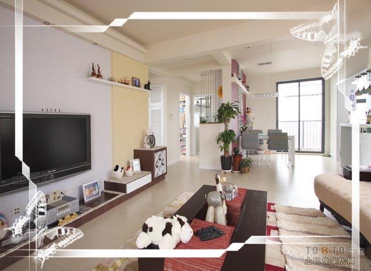 大气84平混搭二居客厅装修案例客厅潮流混搭客厅设计图片赏析