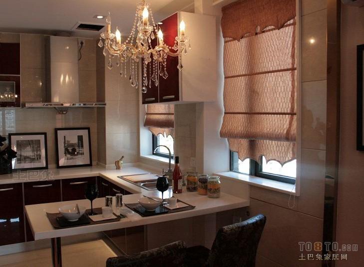 优雅23平混搭小户型厨房装潢图餐厅潮流混搭厨房设计图片赏析