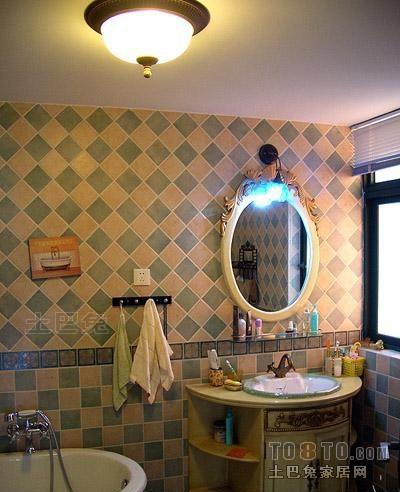 精美105平米三居卫生间混搭装修设计效果图片大全卫生间潮流混搭卫生间设计图片赏析