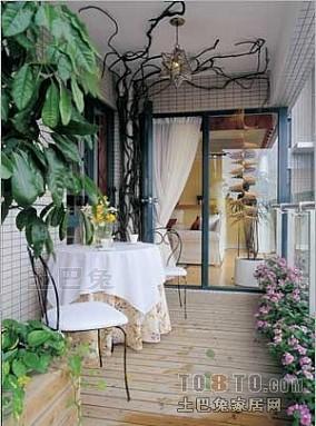 精美面积82平混搭二居阳台装饰图片