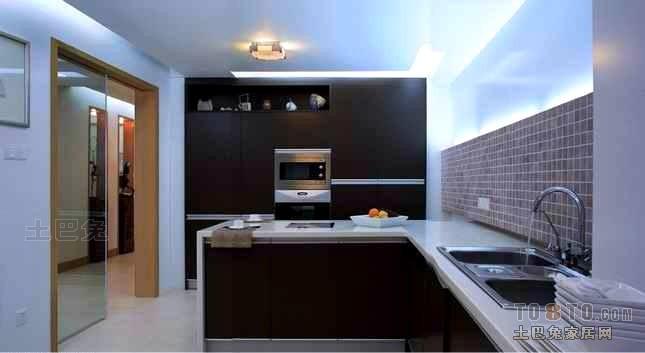 大气56平混搭复式厨房装饰图片餐厅潮流混搭厨房设计图片赏析