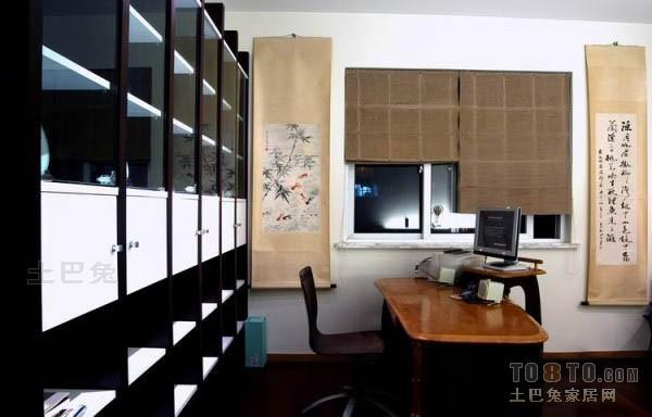 明亮46平混搭复式书房效果图功能区潮流混搭功能区设计图片赏析