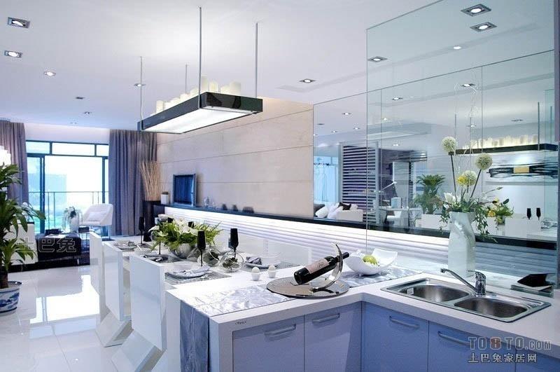 华丽30平混搭小户型厨房图片欣赏餐厅潮流混搭厨房设计图片赏析