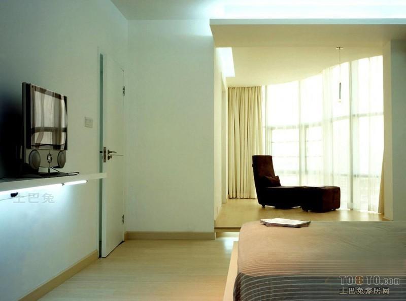 优雅57平混搭二居卧室效果图卧室潮流混搭卧室设计图片赏析