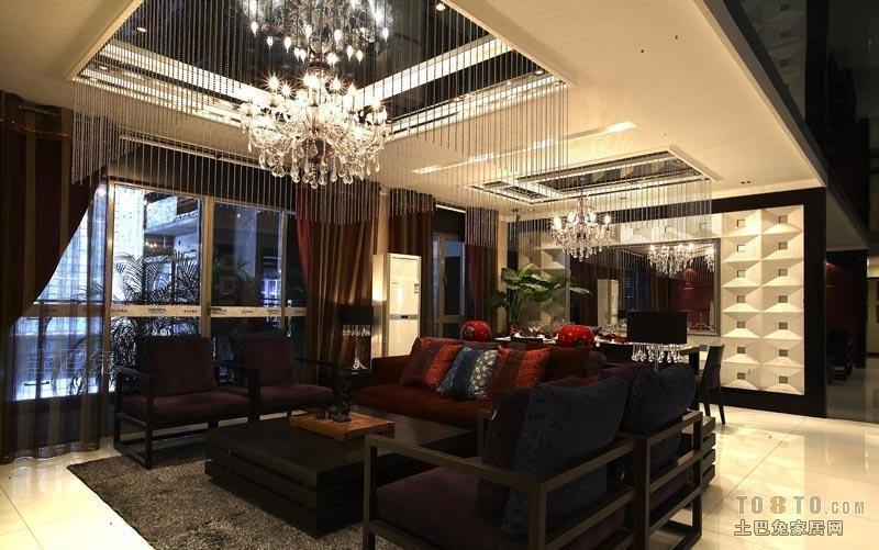 典雅154平混搭四居客厅装修美图客厅潮流混搭客厅设计图片赏析