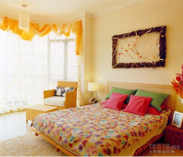 明亮130平混搭三居卧室实景图片卧室潮流混搭卧室设计图片赏析