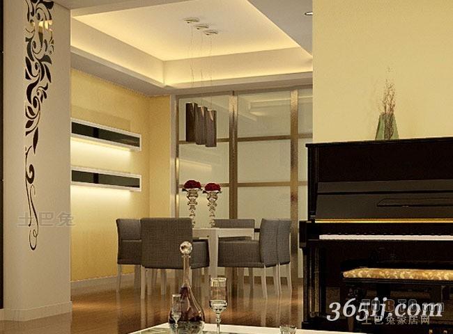 简洁135平混搭四居餐厅实拍图厨房潮流混搭餐厅设计图片赏析