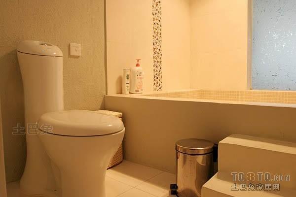 精选132平米混搭复式卫生间装饰图卫生间潮流混搭卫生间设计图片赏析