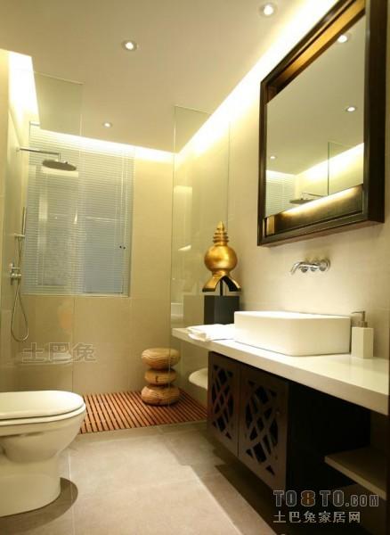 精美混搭复式卫生间装修欣赏图片卫生间潮流混搭卫生间设计图片赏析
