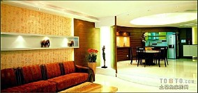 三居室简约风格客厅设计效果图