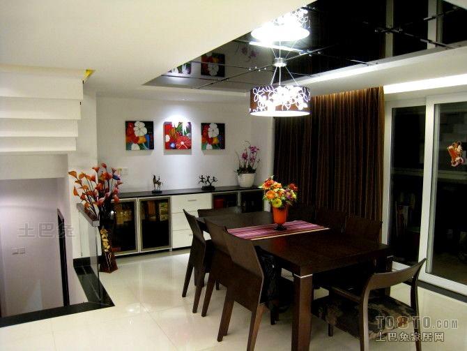 热门120平米混搭复式餐厅装修图片大全厨房潮流混搭餐厅设计图片赏析