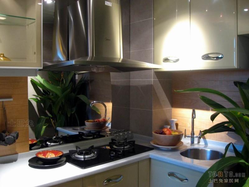 精选面积90平混搭二居厨房装修欣赏图餐厅潮流混搭厨房设计图片赏析