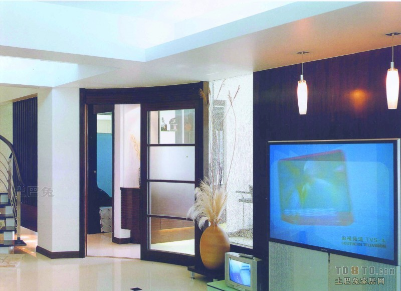 大气61平混搭复式客厅装修案例客厅潮流混搭客厅设计图片赏析