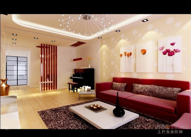 优雅62平混搭二居客厅装修效果图客厅潮流混搭客厅设计图片赏析
