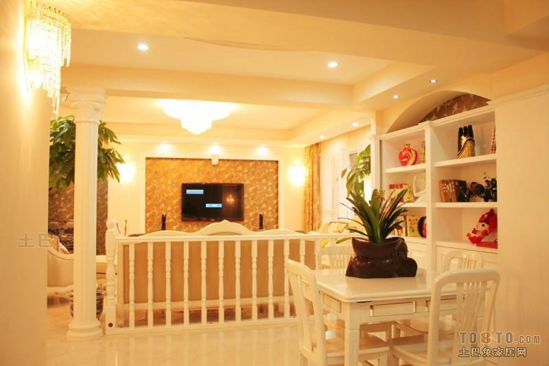 欧式现代客厅装修效果图 单张展示 万科紫台装修效果图 喻海鸥作品高清图片