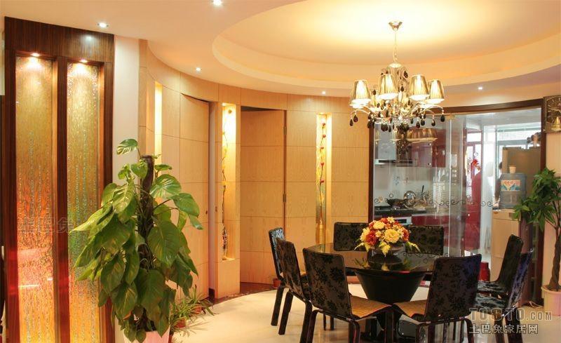 热门面积101平混搭三居餐厅装饰图片大全厨房潮流混搭餐厅设计图片赏析