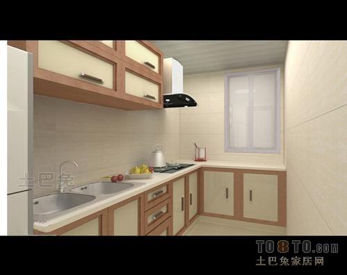 华丽65平混搭二居厨房效果图欣赏餐厅潮流混搭厨房设计图片赏析