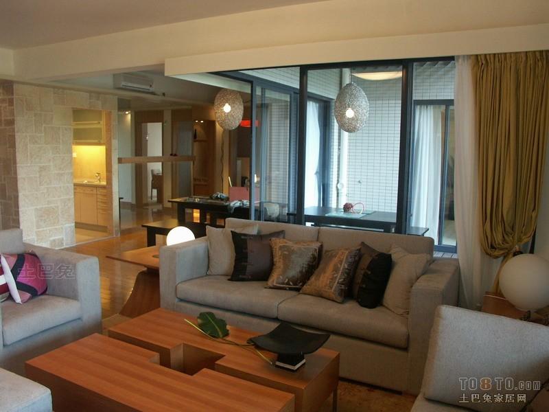 精选106平大小客厅三居混搭装修实景图片客厅潮流混搭客厅设计图片赏析