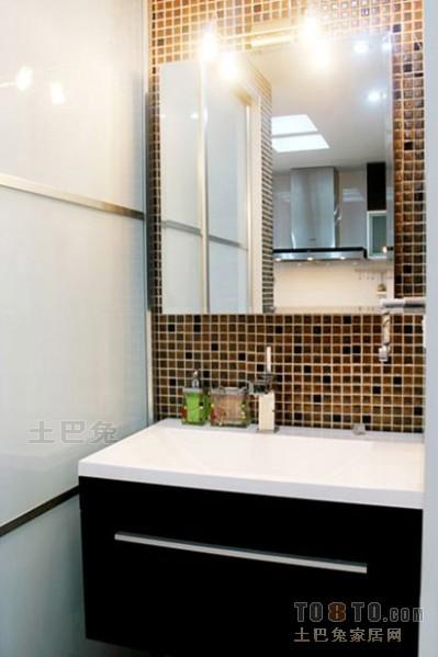热门面积75平混搭二居卫生间装修设计效果图片卫生间潮流混搭卫生间设计图片赏析