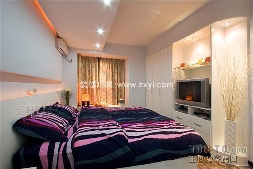 明亮102平混搭三居卧室设计图卧室潮流混搭卧室设计图片赏析