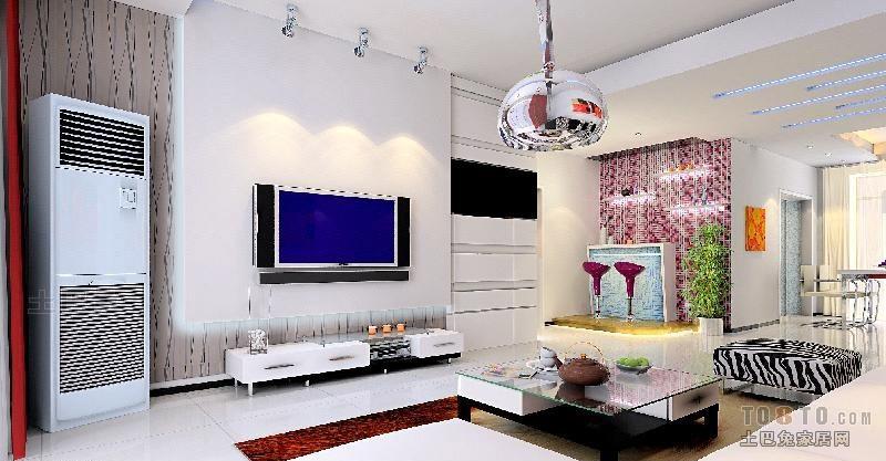 精选面积83平混搭二居客厅装饰图客厅潮流混搭客厅设计图片赏析