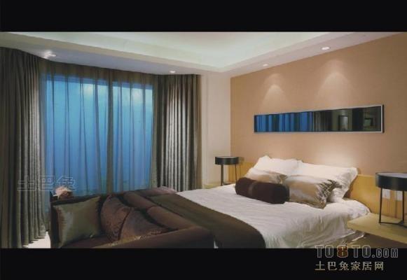 大连国际公寓酒店卧室背景墙设计图片赏析