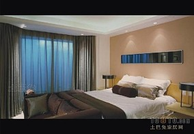 大连国际公寓酒店卧室背景墙