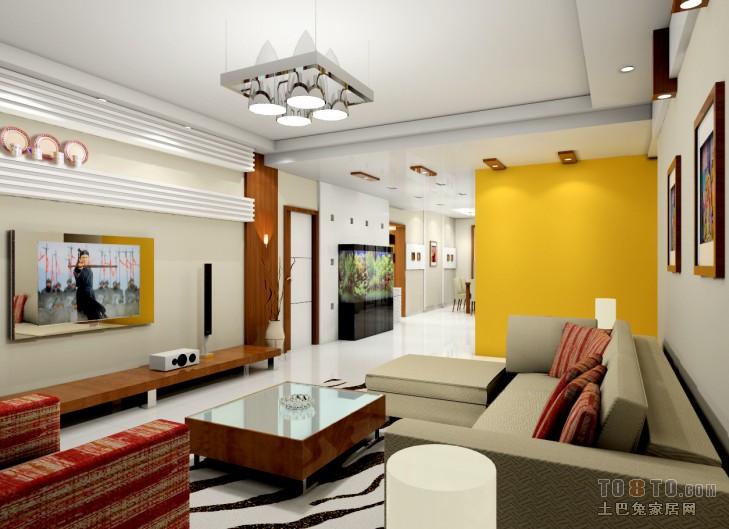 中式现代客厅装修效果图 单张展示 回龙观限价房地块装修效果图 崔世高清图片
